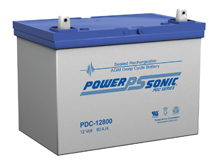 Power-Sonic AGM Deep Cycle PDC-12800 80Ah 12V Rechargeable Sealed Lead Acid (SLA) Battery - T14/U Terminal