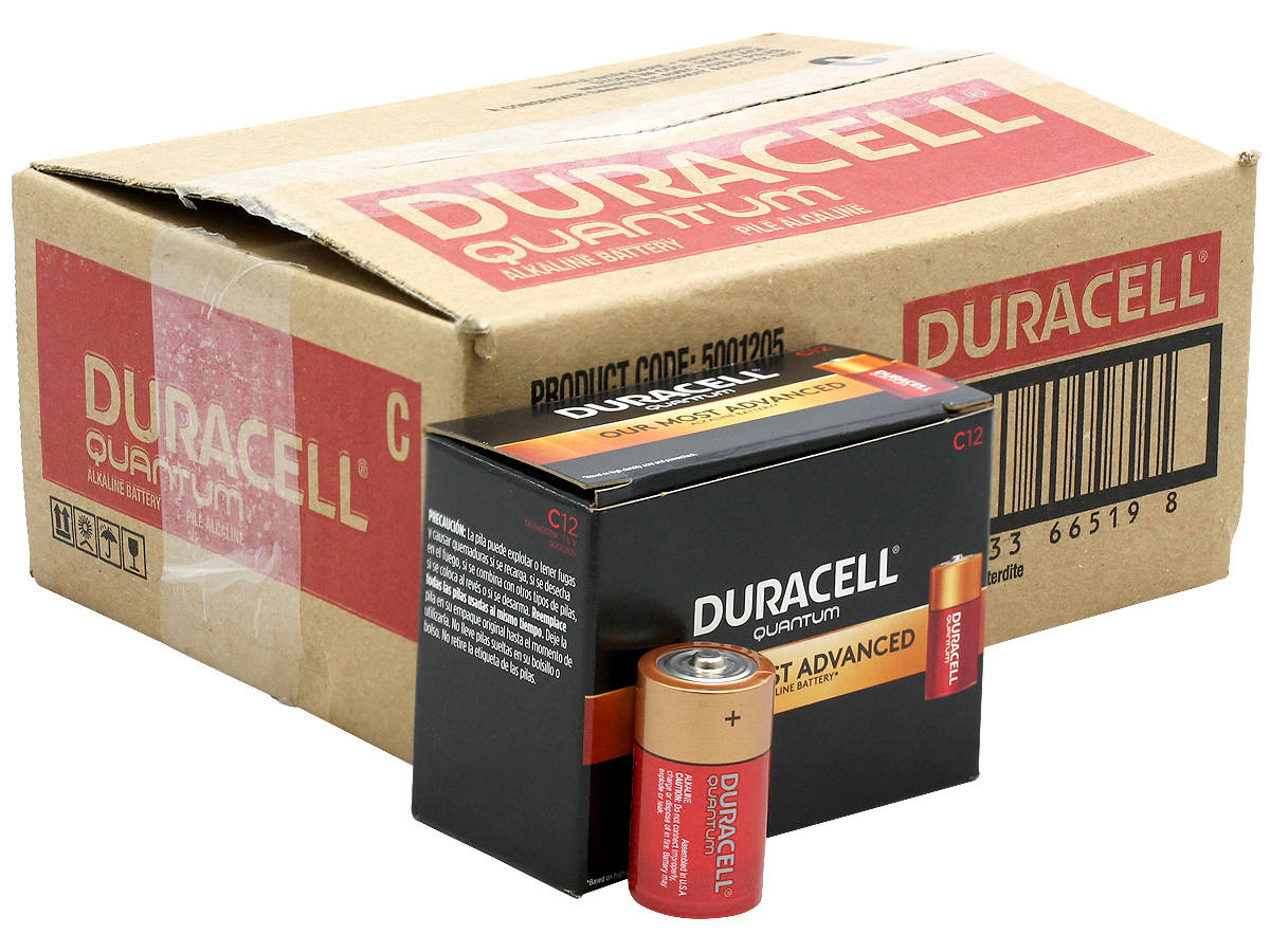 All Packaging Shot for the Duracell Quantum QU1400 C Battery