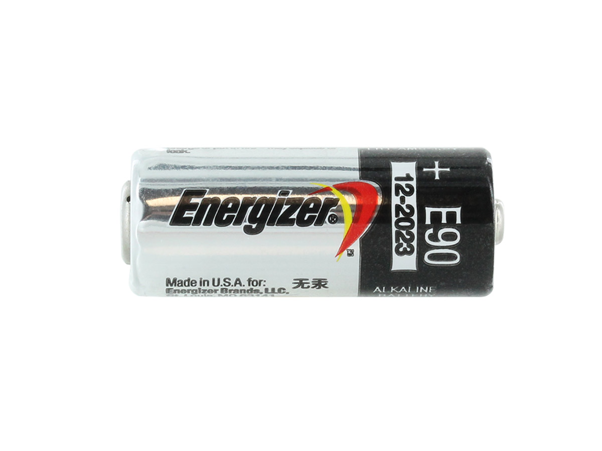 Energizer E90-VP N 1.5V Alkaline Button Top Battery - laying horizontally