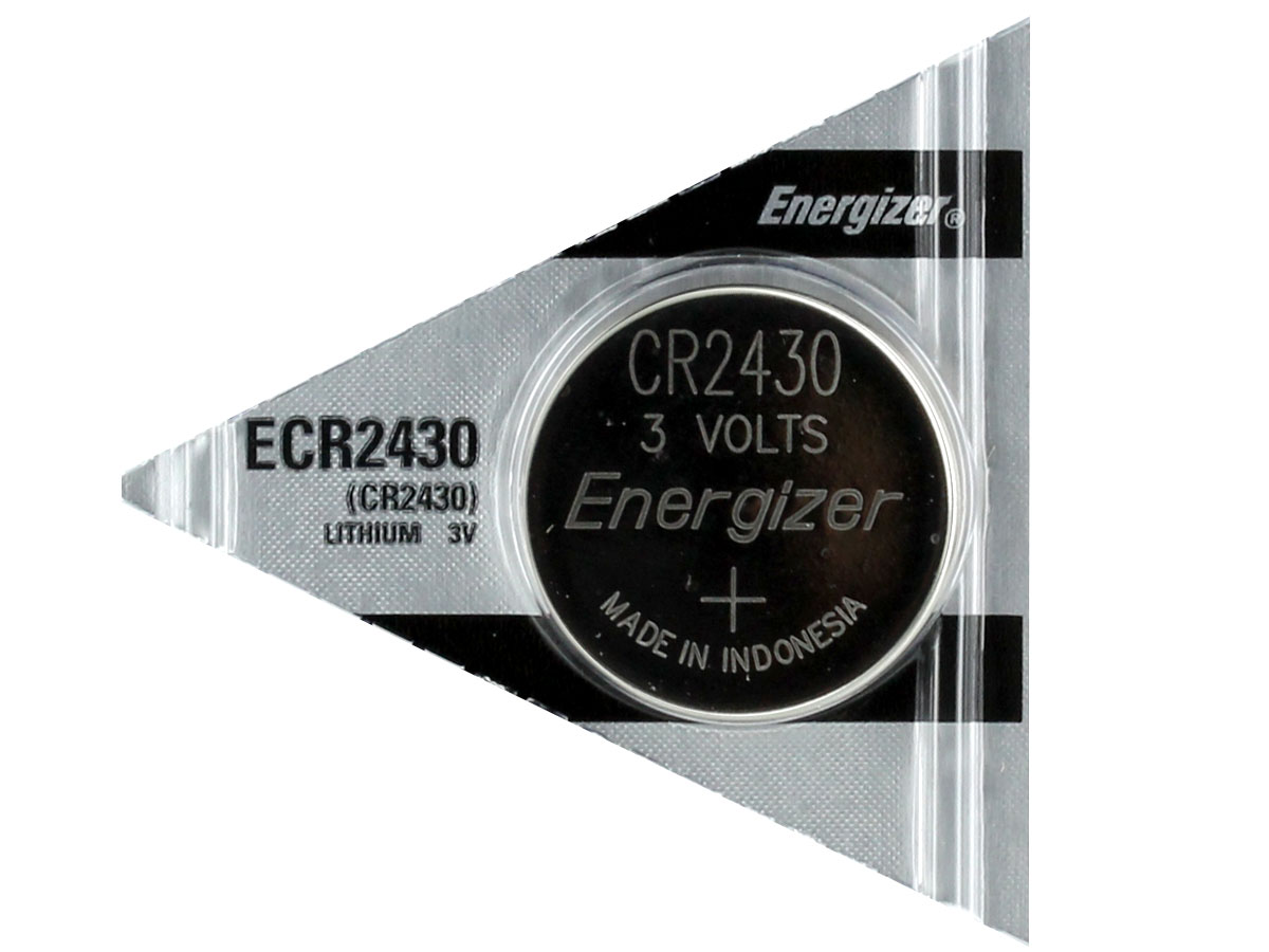 Energizer ECR2430 coin cell in tear strip packaging