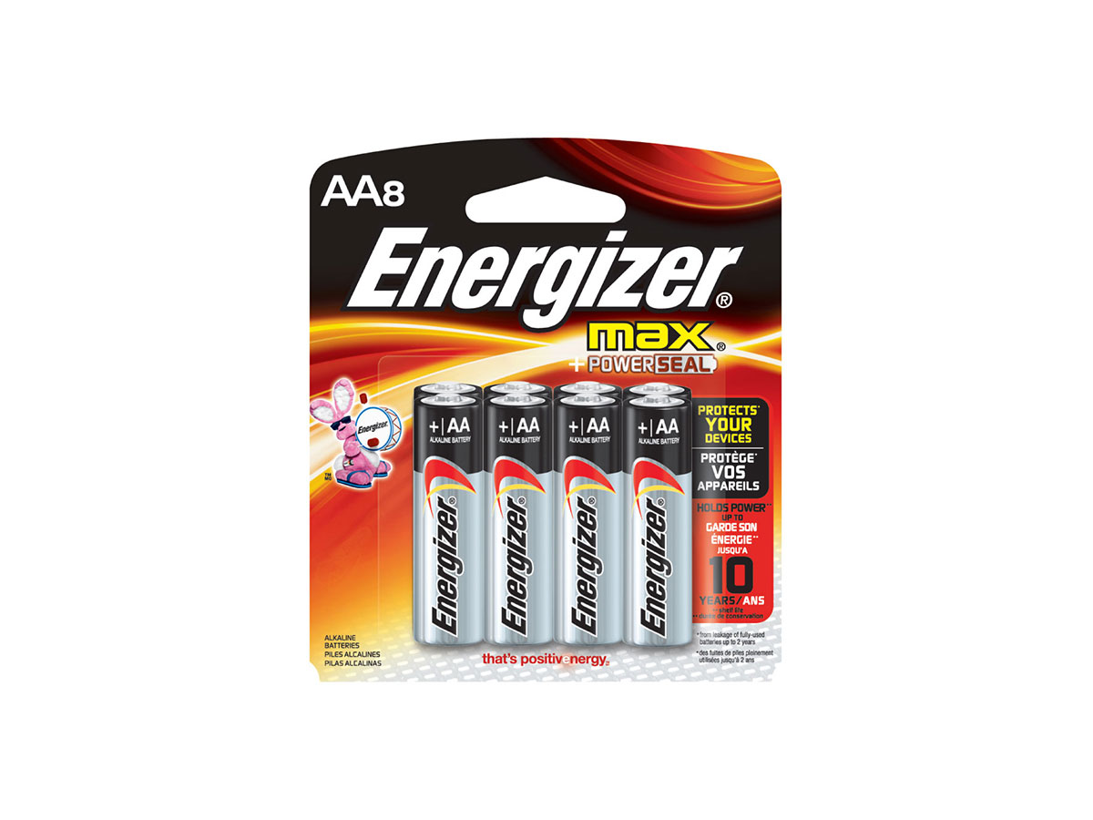 Energizer E91 AA batteries in 8 piece family pack