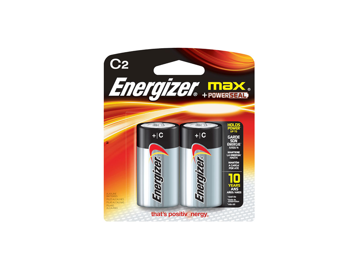 Energizer Max E93 C battery in 2 piece retail card
