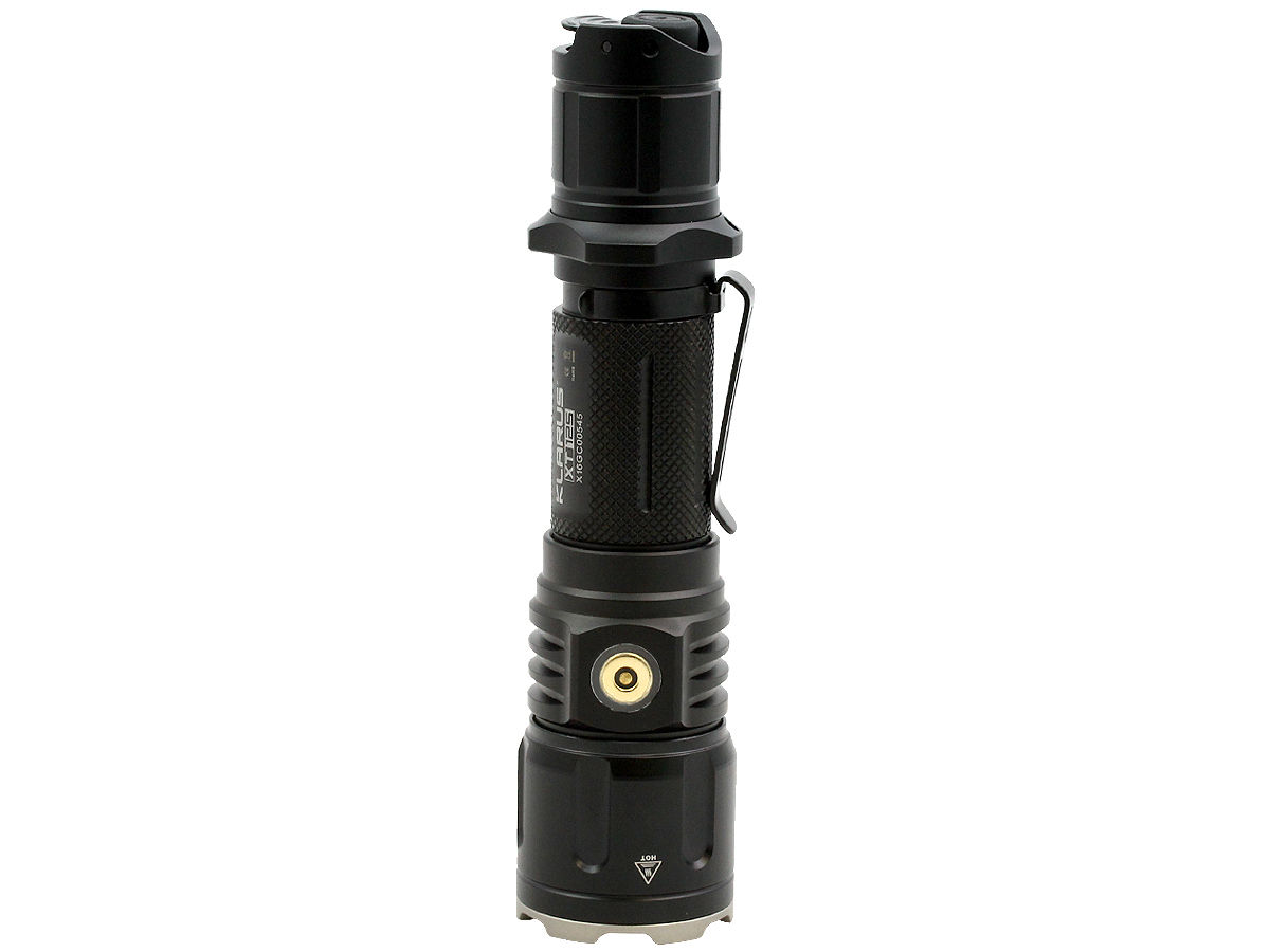 Standing Shot of the Klarus XT12S Rechargeable LED Flashlight