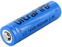 UltraFire UF AA 14500 900mAh 3.6V Unprotected Lithium Ion (Li-ion) Button Top Battery - Boxed