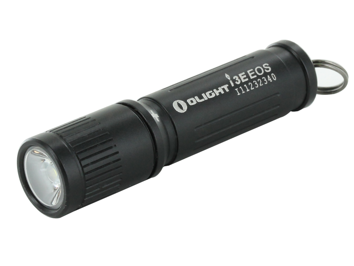 OLIGHT I3E EOS COMPACT FLASHLIGHT AT AN ANGLE WITHOUT A KEYCHAIN (NOT INCLUDED)