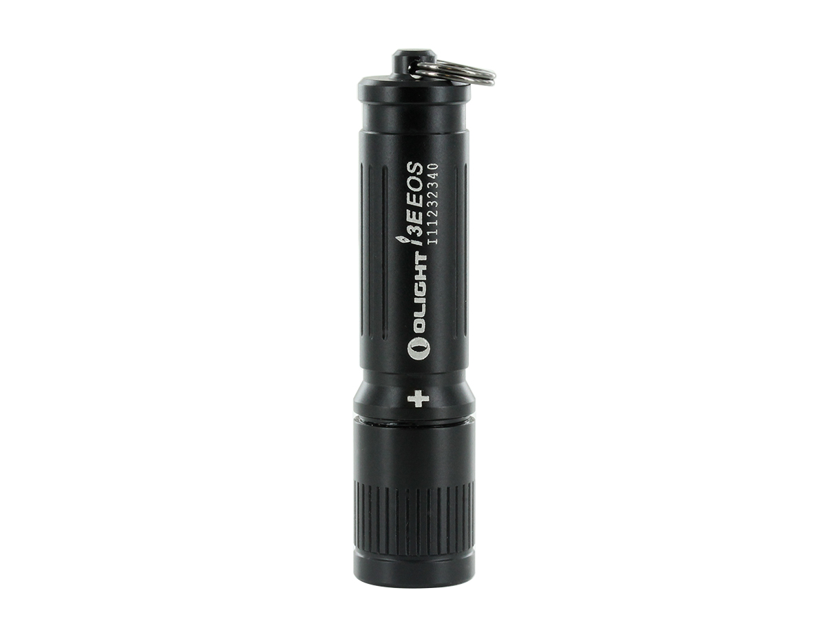 OLIGHT I3E EOS COMPACT FLASHLIGHT SITTING VERTICALLY