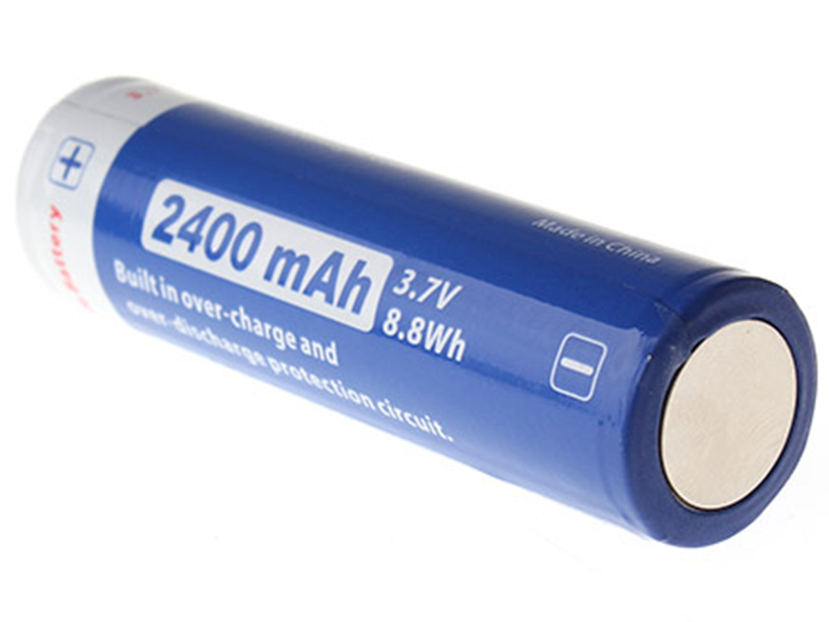 JETBeam JL240 18650 battery right side angle