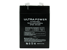 UltraPower UP645F1 4.5Ah 6V Rechargeable Sealed Lead Acid (SLA) Battery - F1 Terminal