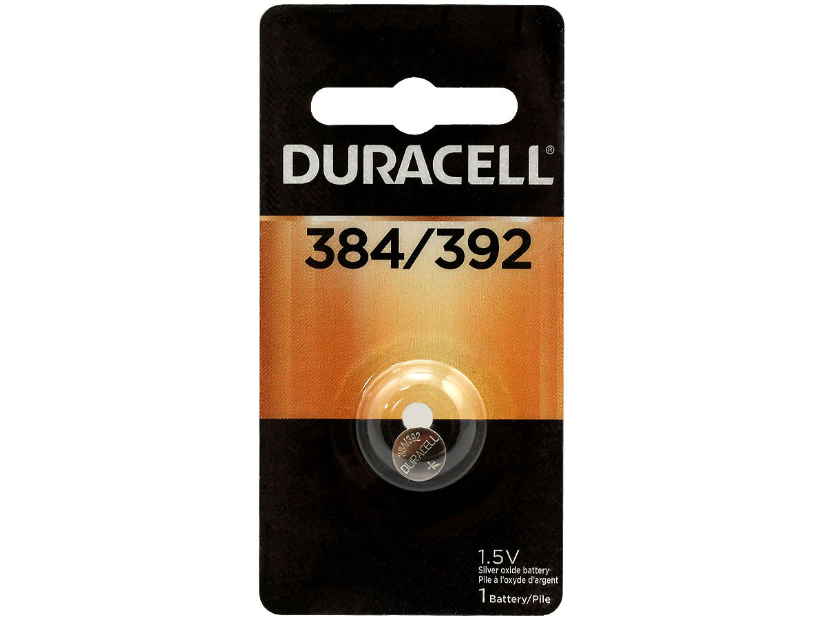 Duracell D384/392 Silver Oxide Battery Retail Card