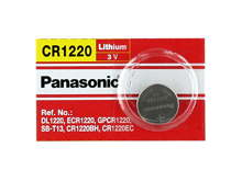 Panasonic CR1220 35mAh 3V Lithium (LiMnO2) Coin Cell Battery - 1 Piece Tear Strip, Sold Individually