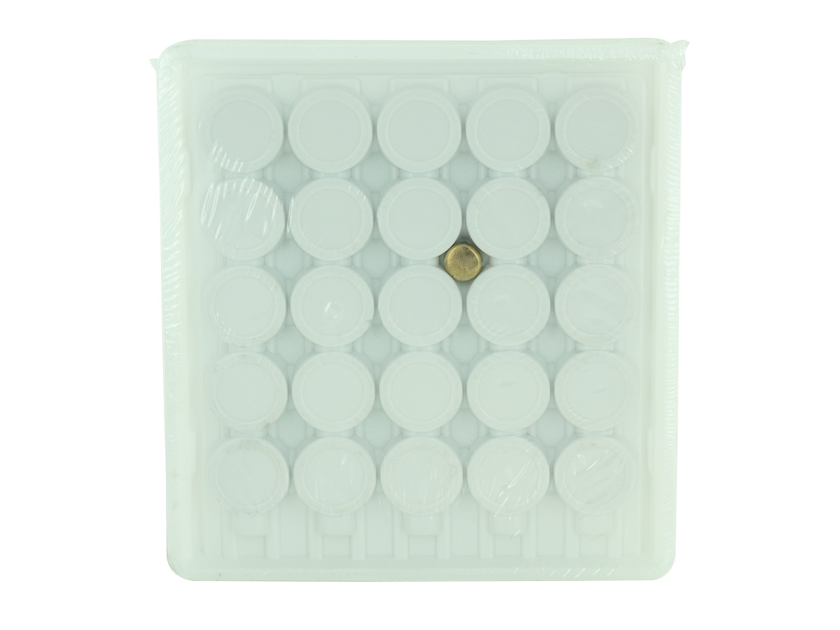 Renata CR2477N bulk tray of 100 pieces, standing vertically, backside view, white background