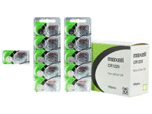Maxell CR1220 30mAh 3V Lithium (LiMnO2) Coin Cell Battery - 1 Piece Tear Strip, Sold Individually