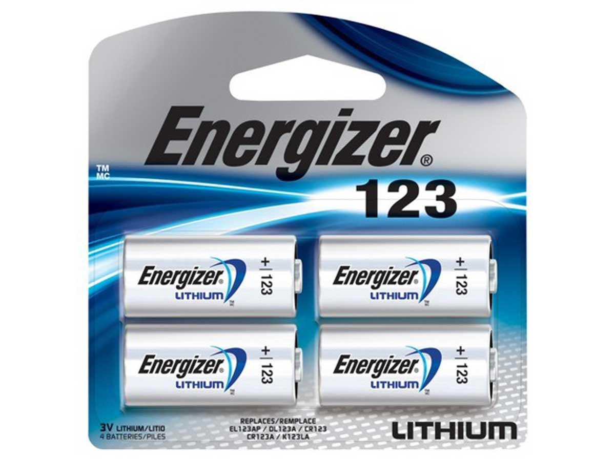 Energizer CR123A - 4 Pack
