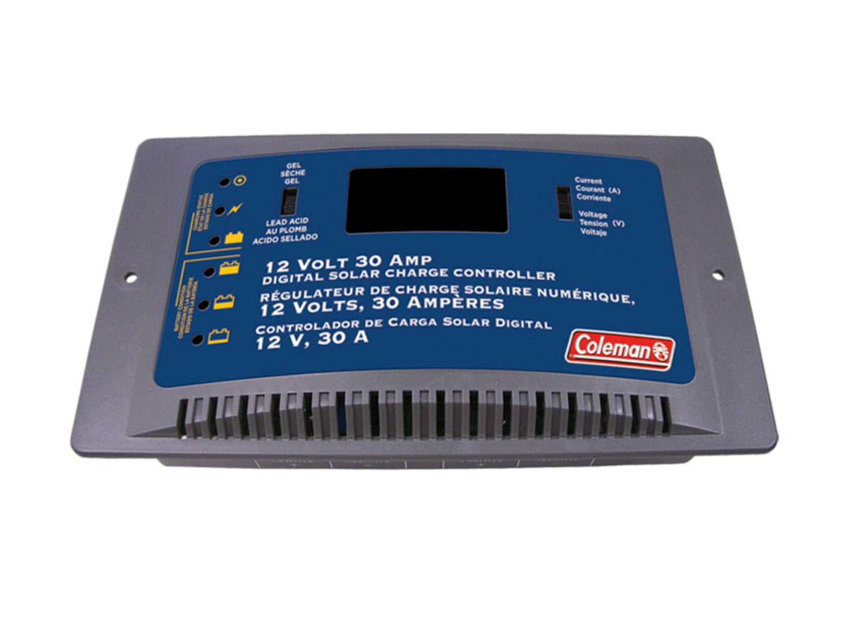 Front view of Coleman Amp Digital Charge Controller