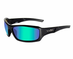 Wiley X WX Echo Sunglasses with High Velocity Protection Climate Control Series in Emerald Mirror Gloss (CCECH04)