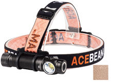 Acebeam H15 LED Headlamp - CREE XHP70.2 - 2500 Lumens - Includes 1 x 18650 - Black or Tan