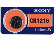 Sony CR1216 30mAh 3V Lithium (LiMnO2) Coin Cell Watch Battery - 1 Piece Tear Strip, Sold Individually
