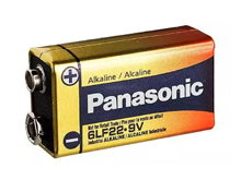 Panasonic Industrial 6LF22XWA 9V Alkaline Battery with Snap Connector - Bulk