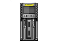 Nitecore UM2 Intelligent USB Dual-Slot Charger for Li-ion, Ni-Cd, and Ni-MH