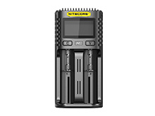 Nitecore UMS2 Intelligent USB Dual-Slot Superb Charger for Li-ion, Ni-Cd, and Ni-MH