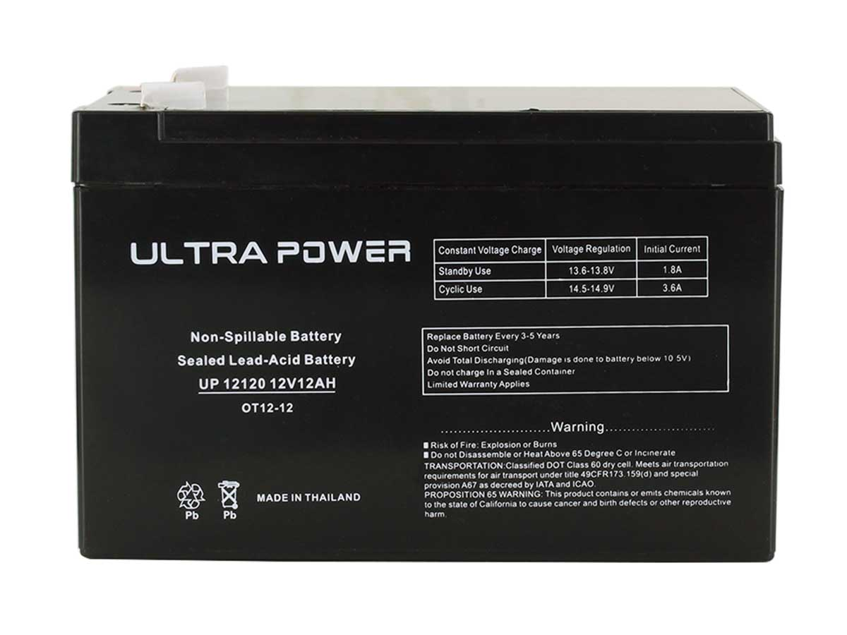 Ultrapower SLA battery front view