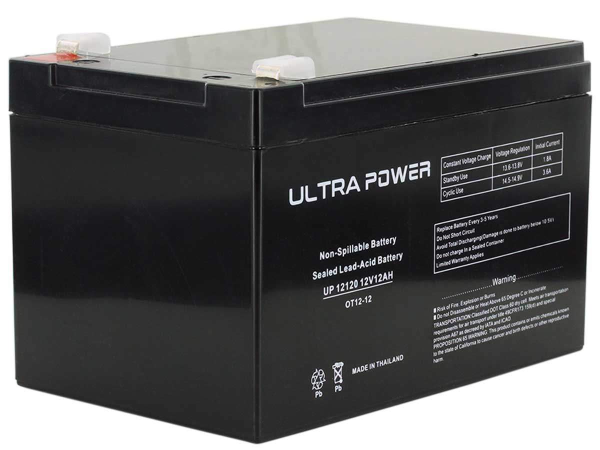 Ultrapower SLA battery side angle