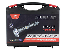 Klarus XT12GT Rechargeable LED Flashlight Hunting Kit - CREE XHP35 HI D4 LED - 1600 Lumens - Uses 1 x 18650 (Included) or 2 x CR123A
