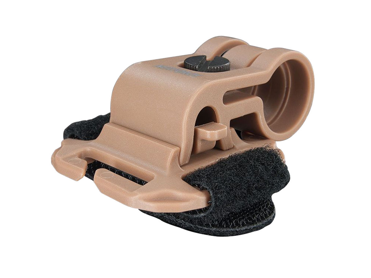 Glo Toob Gtk Multiple Attachment System For Arc Rail Molle Webbing And Velcro Black Or Tan