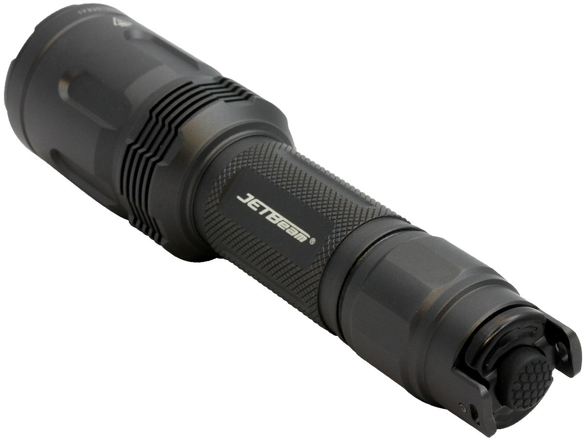 Tailcap Shot of the Jetbeam TH20 Tactical LED Flashlight