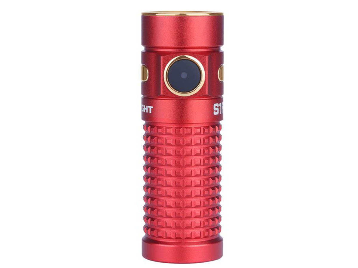 Olight S1R II Red with side switch showing