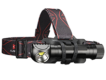 Klarus HA2C Rechargeable LED Headlamp - CREE XHP70.2 - 3200 Lumens - Uses 1 x 18650 or 2 x CR123A