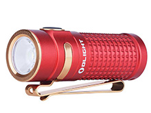 Olight S1R II Baton Rechargeable Flashlight - CREE XM-L2 U4 LED - 1000 Lumens - Uses 1 x RCR123A (included) - Red