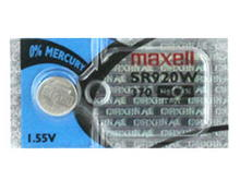 Maxell SR920W 370 39mAh 1.55V Silver Oxide Button Cell Battery - Hologram Packaging - 1 Piece Tear Strip, Sold Individually