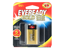 Energizer Eveready Gold A522-BP 9V 1.5V Alkaline Battery with Snap Connector - 1 Piece Retail Card