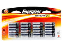 Energizer ELCR123A-BP-12 1500mAh 3V Lithium Primary (LiMNO2) Button Top Photo Batteries - 12 Count Blister Pack