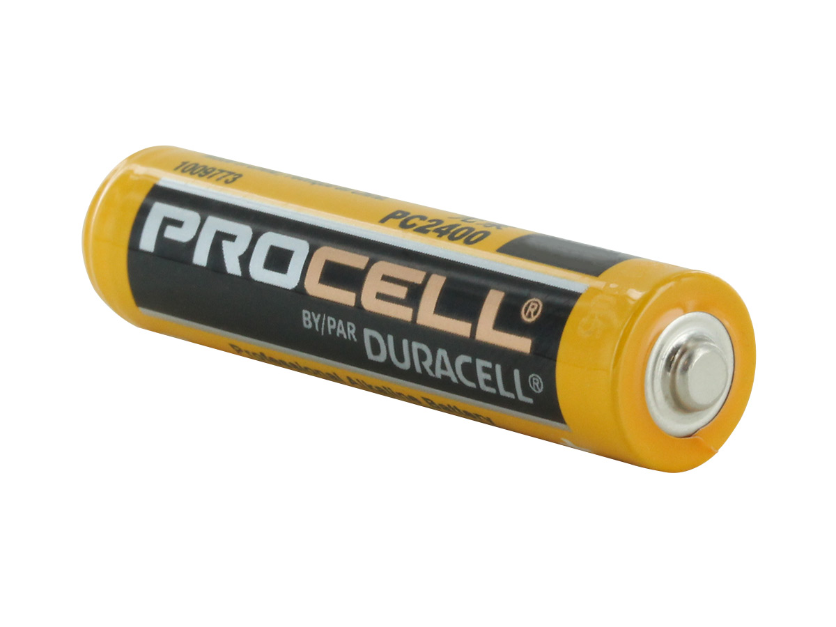 Duracell Procell AAA battery side profile