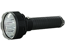 Acebeam X65 LED Flashlight - 5 x CREE XHP35 - 12000 Lumens - Uses Built-In Battery Pack