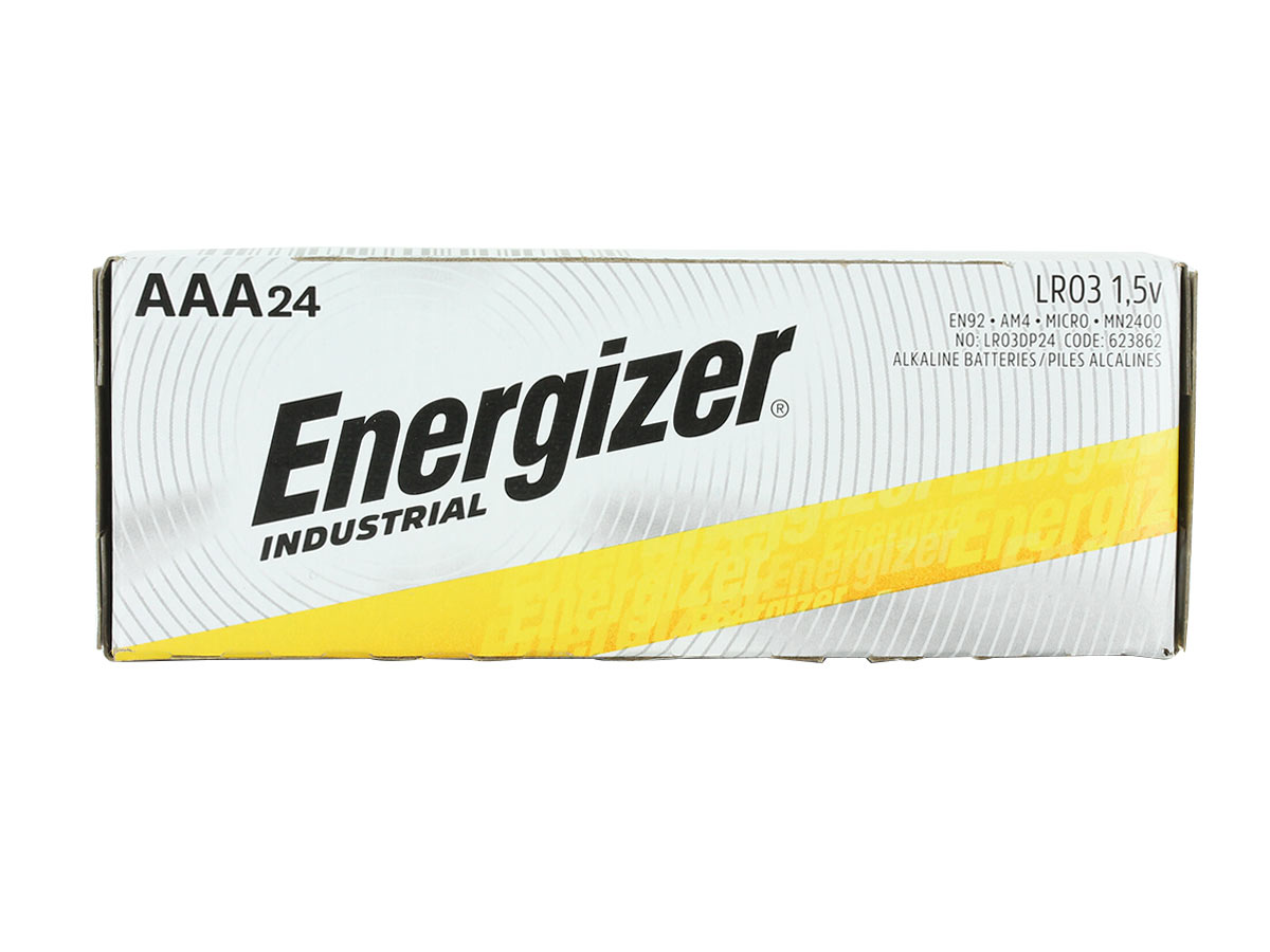 Box of 24 Energizer Industrial AAA batteries