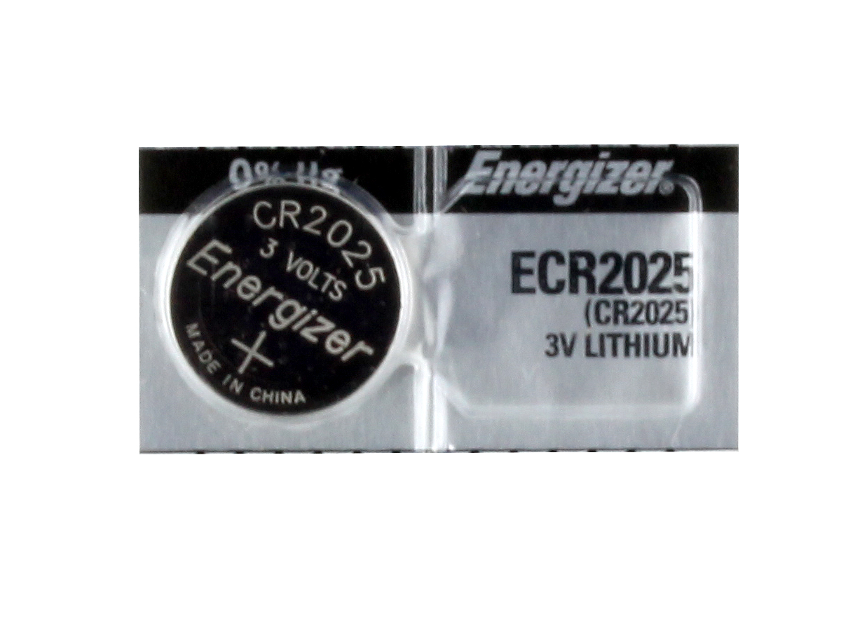 Energizer ECR2025 coin cell in tear strip packaging