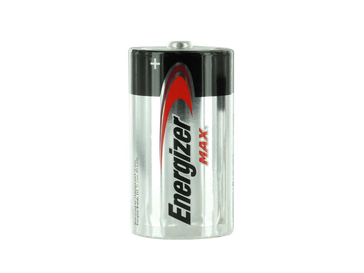 Energizer Max E95 D battery upright
