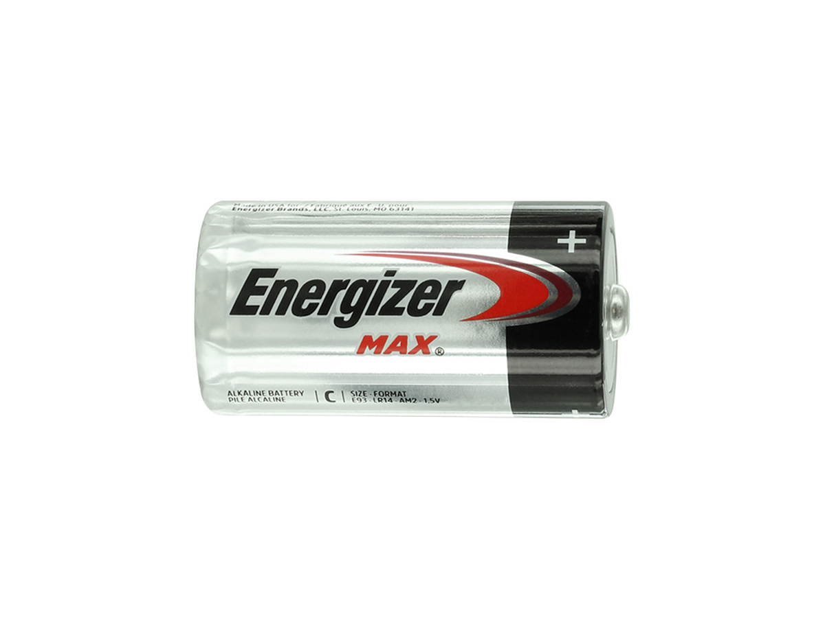Energizer Max E93 C battery side profile