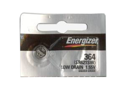 Energizer 364 coin cell in tear strip packaging