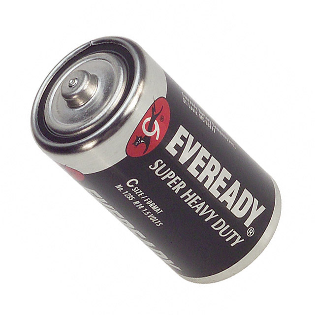 Energizer Eveready C cell left side angle