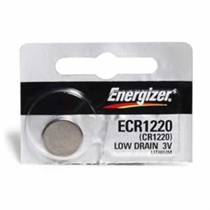 Energizer ECR1220 coin cell in 1 piece tear strip packaging