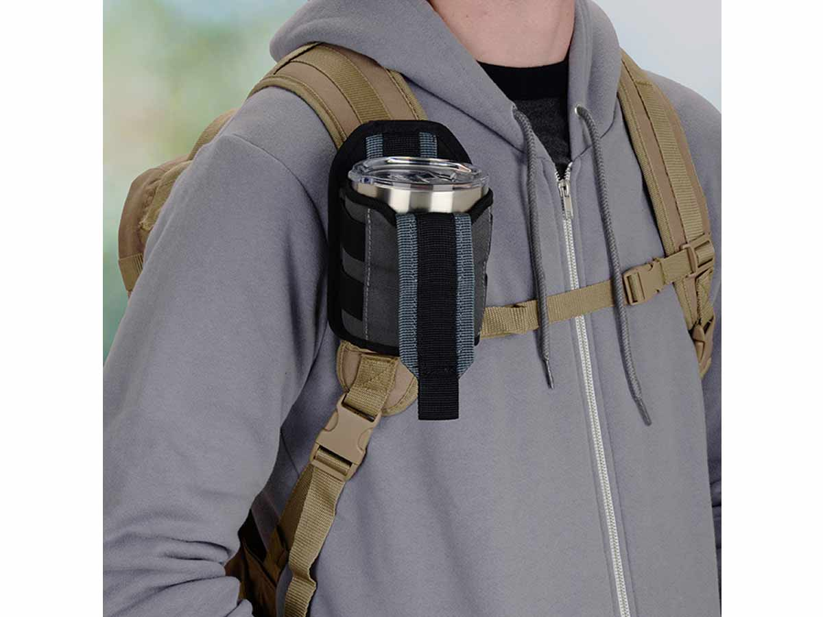 Fastened to Backpack Strap