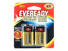 Energizer Eveready Gold A522-BP-2 9V 1.5V Alkaline Battery with Snap Connector - 2 Piece Retail Card
