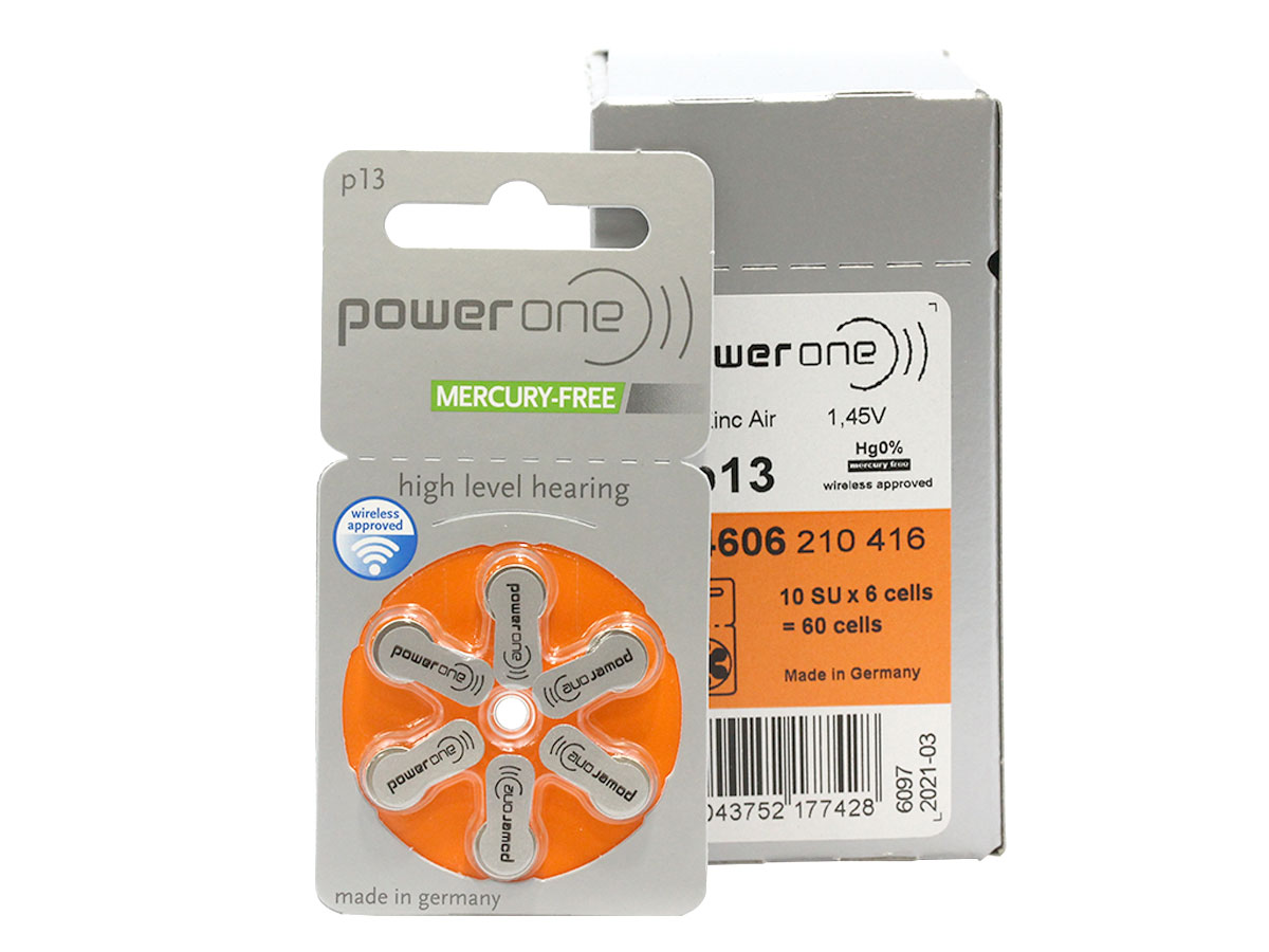 Retail and shipping package for the Powerone P13 battery