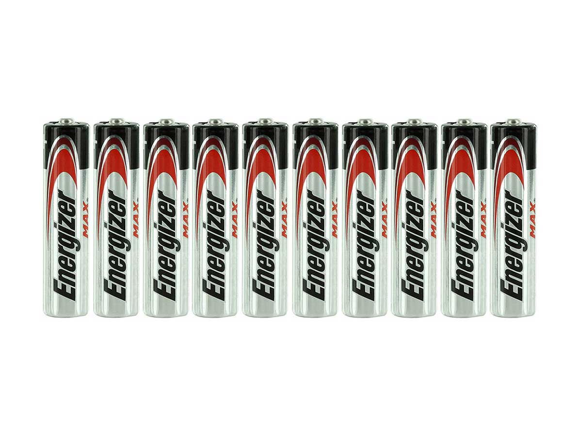 E92 AAA Batteries Shrink-Wrapped in Sets of 10