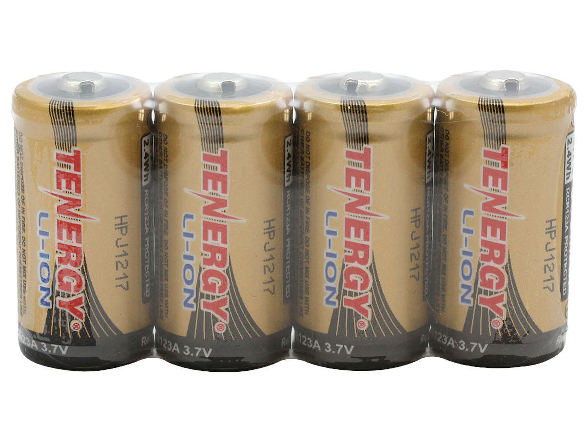 RCR123A Batteries for the Tenergy 34154 Combo Kit