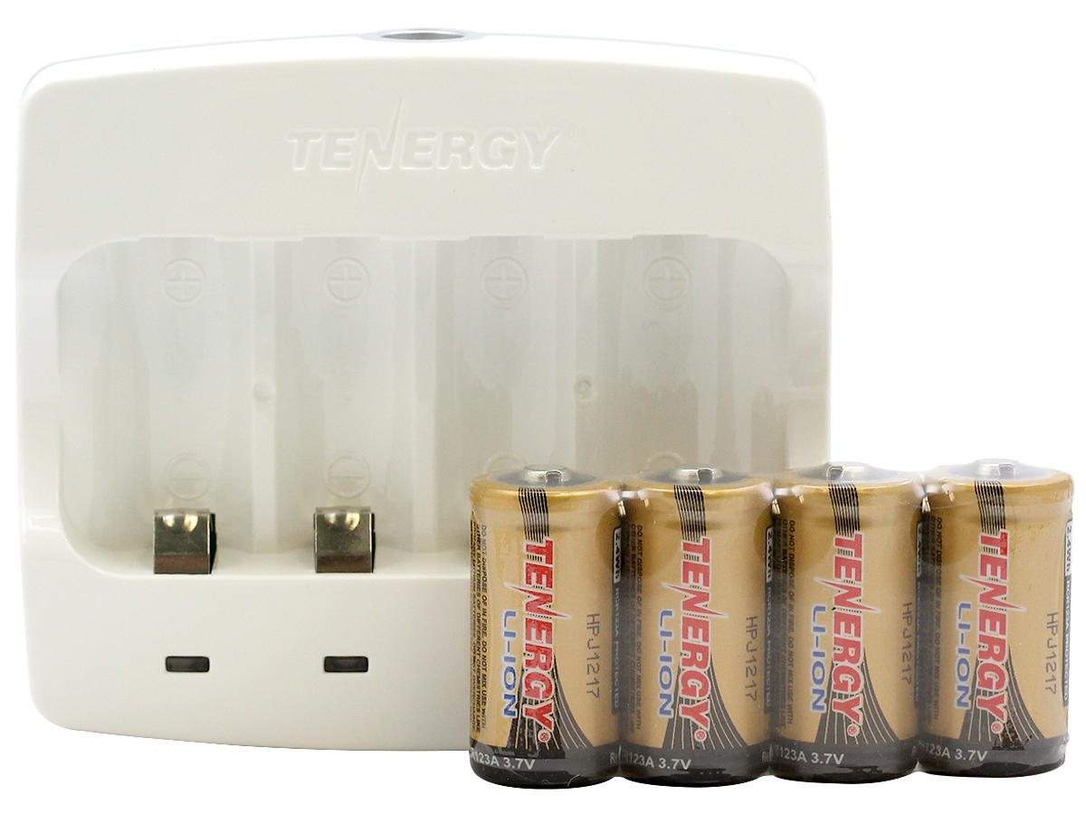 Charger and Batteries of the Tenergy 34154 Combo Kit